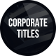 Clean Corporate Titles - VideoHive Item for Sale