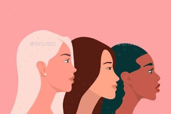 International Womens Day Three Multy Ethnic Women