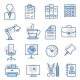 Office Line Icons on White Background - GraphicRiver Item for Sale