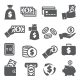 Money Icons Set on White Background - GraphicRiver Item for Sale