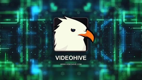 4k Digital Technology Logo Reveal