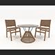 Outdoor Rattan Furniture Set - 3DOcean Item for Sale