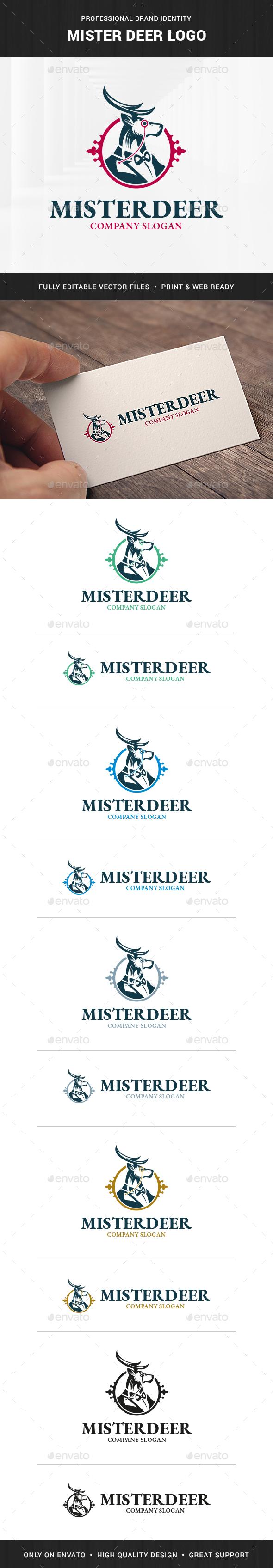 Mister Deer Logo Template