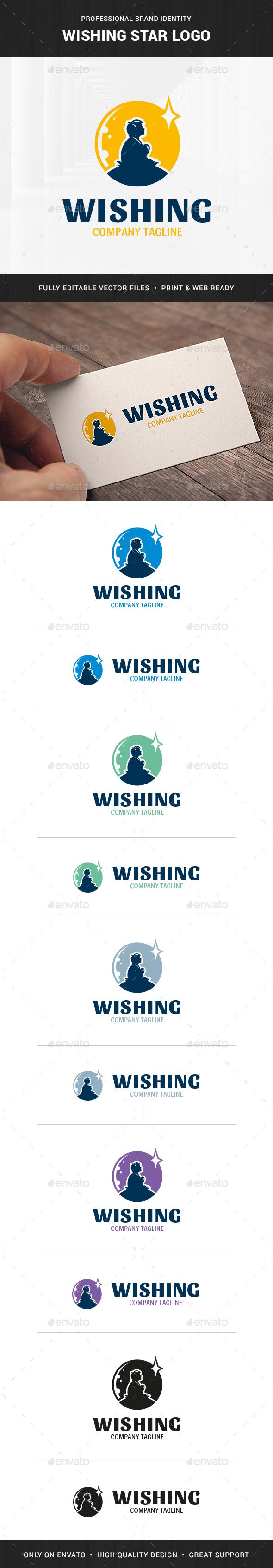 Wishing Star Logo Template