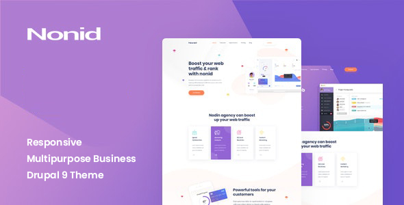 Nonid - Responsive Multipurpose Business Drupal 9 Theme