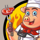 Bbq Pig Chef - GraphicRiver Item for Sale
