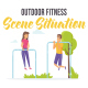 Outdoor fitness - Scene Situation - VideoHive Item for Sale