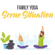 Family yoga - Scene Situation - VideoHive Item for Sale