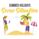 Summer holidays- Scene Situation - VideoHive Item for Sale