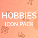 Hobbies And Activity Icon Pack - GraphicRiver Item for Sale