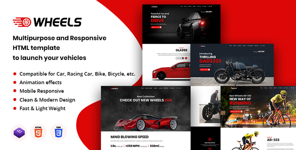 Wheels - Automobile Business Multipurpose And Responsive HTML Template