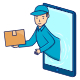 Online Delivery Courier Concept on Smartphones - GraphicRiver Item for Sale