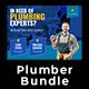 Plumber Flyer Postcard Bundle - GraphicRiver Item for Sale