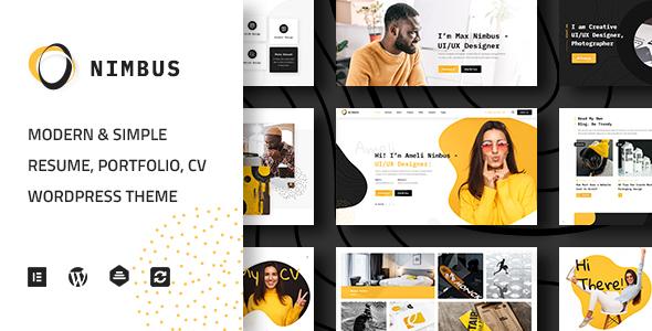 Nimbus - CV & Portfolio WordPress Theme