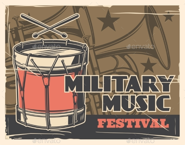 Music Festival, Military Band Army Parade Poster