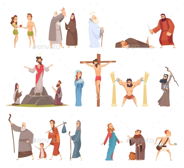 Bible Characters. Historical Antique Holy People