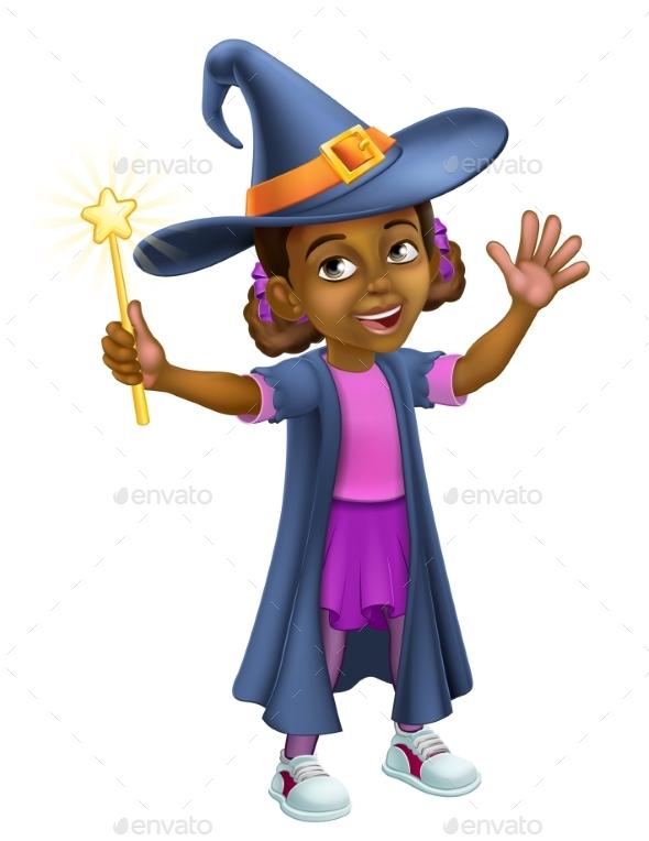 Child Halloween Witch Costume