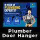 Plumber Door Hanger - GraphicRiver Item for Sale