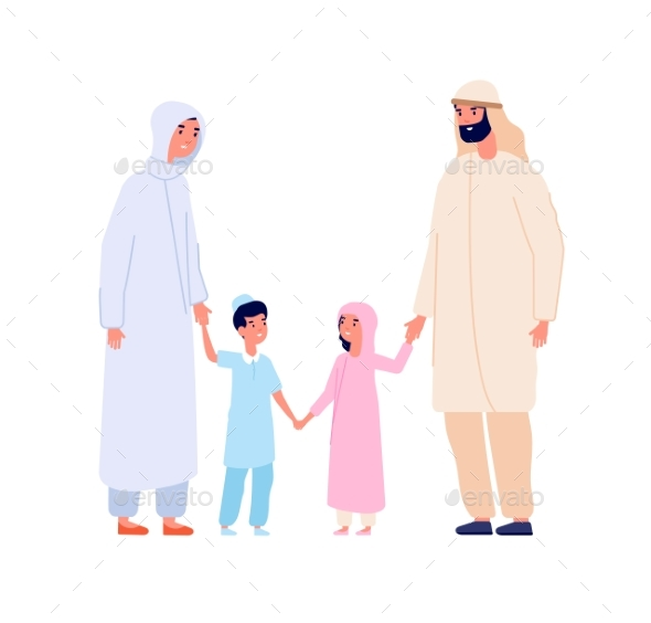 Muslim Arabic Family. Arab Kids, Islam Mother
