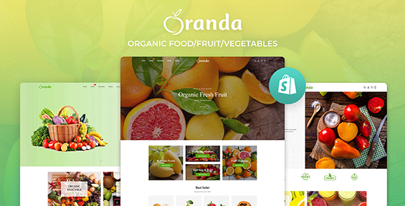 Oranda - Organic Food/Fruit/Vegetables eCommerce Shopify Theme