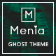 Menia - Responsive Minimal and Clean Ghost Theme - ThemeForest Item for Sale