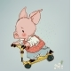 Pig Boy on a Scooter - GraphicRiver Item for Sale