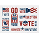USA Election Motivation Typography And Logos Set - GraphicRiver Item for Sale