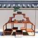 Bonsai Shelf 1 - 3DOcean Item for Sale
