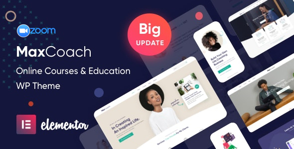 MaxCoach - Online Courses & Education Elementor WP Theme