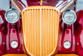 Vienna, Austria. Retro car crop front design old vintage part with headlight - PhotoDune Item for Sale