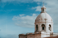 The white cupola of the National Pantheon in Lisbon with blue sky and some clouds in the background - PhotoDune Item for Sale