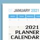 Calendar 2021 Planner Design - GraphicRiver Item for Sale