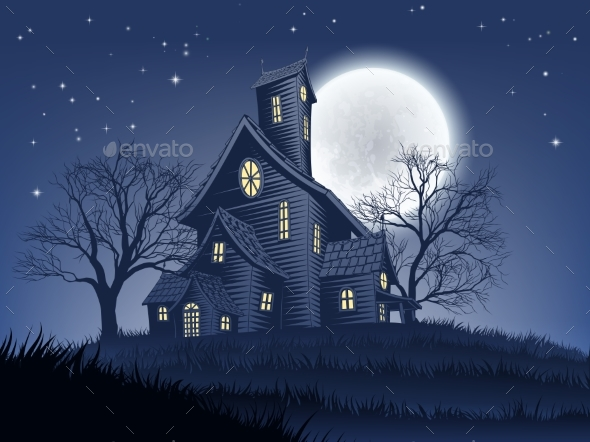Haunted House Haunt Halloween Background