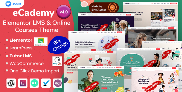 eCademy - Elementor LMS & Online Courses Education Theme