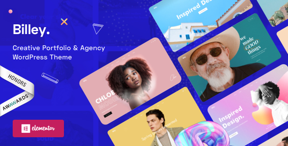 Billey - Creative Portfolio & Agency Elementor WordPress Theme