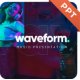 Waveform Music  PowerPoint Presentation Template Template Fully Animated - GraphicRiver Item for Sale