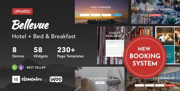 Hotel + Bed and Breakfast Booking Calendar Bellevue