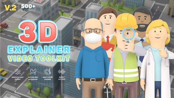 3D Characters Explainer Toolkit