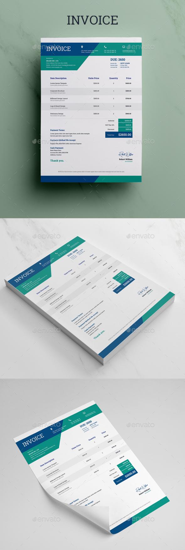 Invoice Templates Graphics Designs Templates