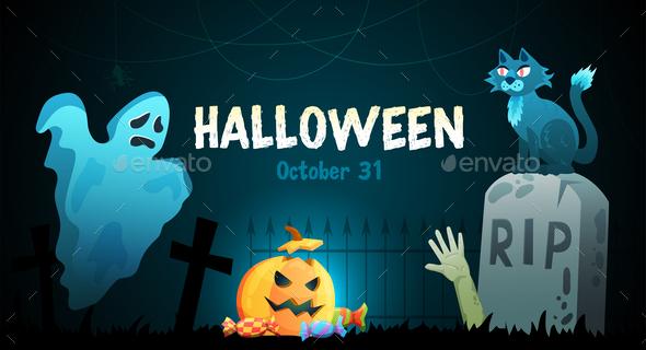 Halloween Horizontal Poster