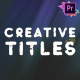 Creative Titles Pack | Premiere Pro MOGRT - VideoHive Item for Sale