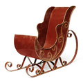 Old empty red sleigh - PhotoDune Item for Sale