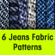 6 Seamless Jeans Patterns - GraphicRiver Item for Sale