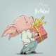 Pig Boy with Present Box - GraphicRiver Item for Sale