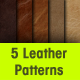 5 Seamless Leather Patterns - GraphicRiver Item for Sale