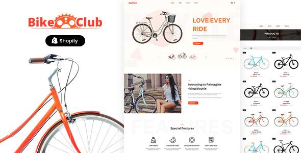 Bikez - Bike Shop, Cycle Single Product Shopify Theme