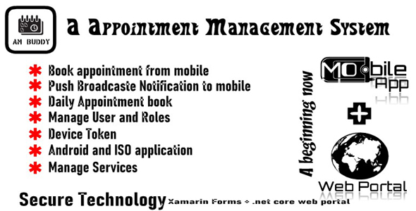 AMBuddy | A appointment management portal with mobile apps Android and ISO | .net core web api Download