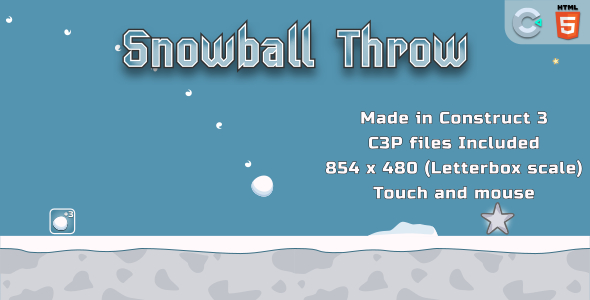 throwSnowball - HTML5 Casual Game
