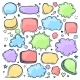 Set of Hand Drawn Doodle Colored Speach Bubbles - GraphicRiver Item for Sale