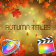 Autumn Titles - Apple Motion
